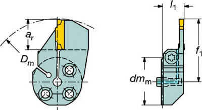 サンドビック コロターンSL コロカット1・2用端面溝入れブレード 570-32L123G18B130A [A071727]