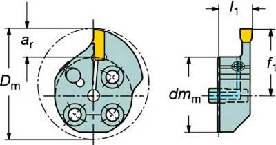 【◆◇マラソン!ポイント2倍!◇◆】サンドビック コロターンSL T-Max Q-カット用カッティングヘッド 570-32L151.3-10-50 [A071727]