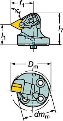 サンドビック コロターンSL コロターンRC用カッティングヘッド 570-DDXNL-80-15 [A071727]