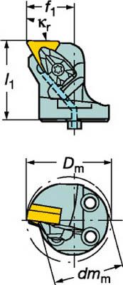 サンドビック コロターンSL コロターンRC用カッティングヘッド 570-DTFNL-80-16 [A071727]