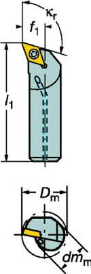 サンドビック コロターン107 ポジチップ用ボーリングバイト A20S-SDQCL 11 [A071727]