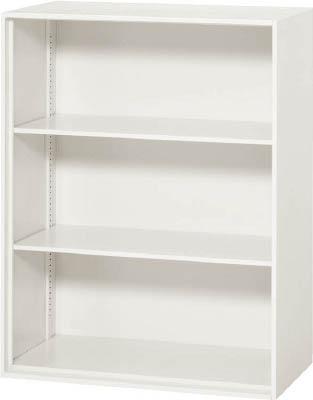 ダイシン工業 【個人宅不可】 壁面収納庫 オープン型 上下兼用W800 ホワイト V845-10K [F012202]