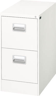 ダイシン工業 【個人宅不可】 ファイリングキャビネット A4-2段引出し型 ホワイト A4-2W [F010503]