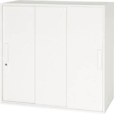 【お取り寄せ】 ダイシン工業 【個人宅】 壁面収納庫 3枚引戸型 上下兼用D450 ホワイト V945-09TS [F012202], ミヤコシ 9c9837a6