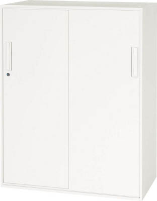 【◆◇エントリーで最大ポイント5倍!◇◆】ダイシン工業 【代引不可】【直送】 壁面収納庫 引戸型 下置き専用W800 ホワイト V845-11S [F012400]