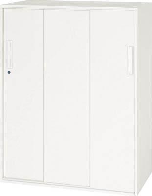 【◆◇エントリーで最大ポイント5倍!◇◆】ダイシン工業 【代引不可】【直送】 壁面収納庫 3枚引戸型 下置き専用W800 ホワイト V845-11TS [F012400]