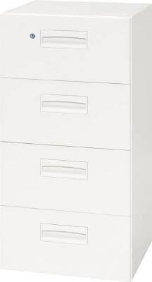 【◆◇スーパーセール!エントリーでP10倍!期間限定!◇◆】ダイシン工業 【個人宅不可】 壁面収納庫 4段引出型 下置き専用W450 ホワイト V445-409D [F012202]