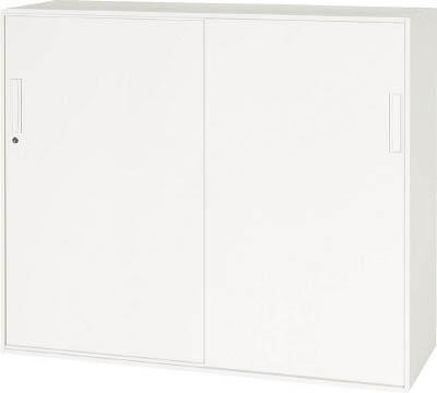 ダイシン工業 【個人宅不可】 壁面収納庫引戸型 下置き専用W1200 ホワイト V1245-11S [F012202]