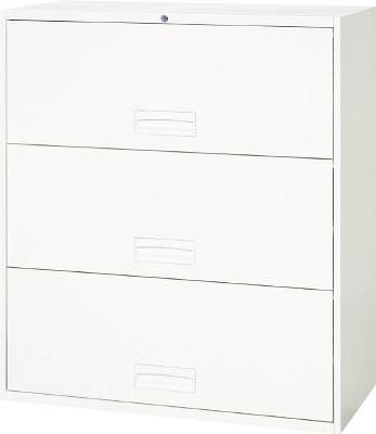 ダイシン工業 【個人宅不可】 壁面収納庫 ケン戸引型3段 下置き専用D450 ホワイト V945-311R [F012202]