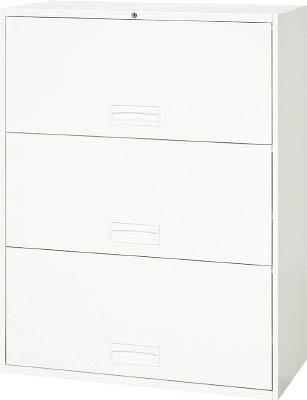 【◆◇エントリーで最大ポイント5倍!◇◆】ダイシン工業 【代引不可】【直送】 壁面収納庫 ケン戸引型3段 下置き専用D450 ホワイト V945-312R [F012400]