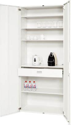 【WEB限定】 ダイシン工業 【個人宅】 壁面収納庫 キッチンケース型 下置き専用D450 ホワイト V945-21CC [F012601], 靴下工房まほれぐ 1f92599b