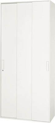 【◆◇エントリーで最大ポイント5倍!◇◆】ダイシン工業 【代引不可】【直送】 壁面収納庫 3枚引戸型 下置き専用D400 ホワイト V940-21TS [F012400]