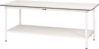 山金工業 【個人宅不可】 ヤマテック ワークテーブル150シリーズ 固定式 全面棚板付 SUP-660TT-WW [A130110]