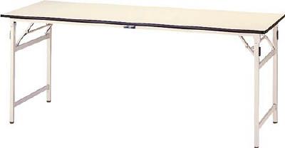 山金工業 【個人宅不可】 ヤマテック ワークテーブル折りたたみタイプ リノリューム天板W900×D750 STR-975-II [A130110]