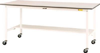 山金工業 【個人宅不可】 ヤマテック ワークテーブル150シリーズ 移動式 半面棚板付 SUPC-660T-WW [A130110]