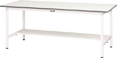 【20日限定☆カード利用でP14倍】山金工業 ヤマテック ワークテーブル150シリーズ 固定式 半面棚板付 SUP-945T-WW [A130110]