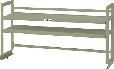 山金工業 ヤマテック ワークテーブル架台 棚板2段タイプ WK2-1200-G [A130110]