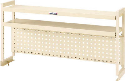 山金工業 【個人宅不可】 ヤマテック ワークテーブル架台 棚板2段+パンチングパネルタイプ WKP2-900-IV [A130110]