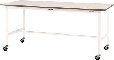 山金工業 【個人宅不可】 ヤマテック ワークテーブル150シリーズ 移動式 全面棚板付 SUPC-660TT-WW [A130110]