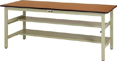 山金工業 【個人宅不可】 ヤマテック ワークテーブル300シリーズ 固定式 中間棚・半面棚板付 SWP-660TS1-MG [A130110]
