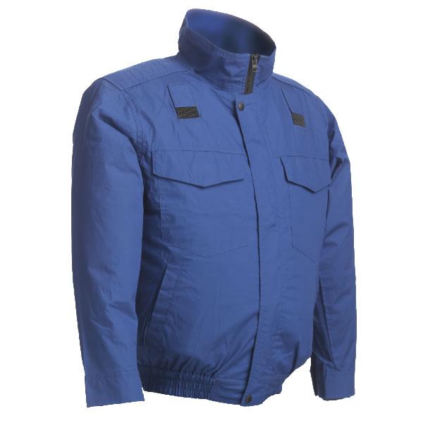 リンクサス Linxas クーリングブラスト 長袖ワークブルゾン(高密度綿100%) ブルー ハーネスタイプ 4L LX-6700WFHB-4L [A220714]