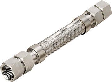 南国フレキ工業 NFK メタルタッチ メスxメス型フレキ 継手SUS304 40Ax1000L NK203FF40-1000 [A150504]