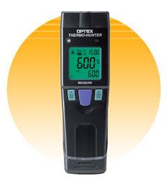 OPTEX 【取寄品】 ポータブル型非接触温度計 長距離狭視野測定タイプ PT-U80 (温度計・湿度計) [A030719]