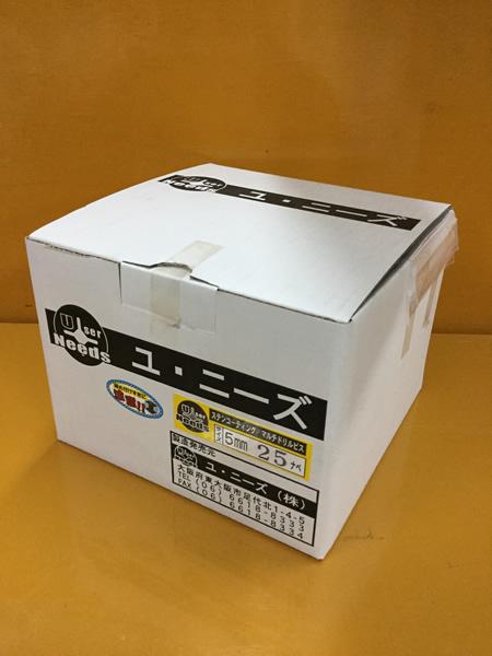 ユニーズ マルチドリルビスステンレスコーティング5×25ナベ徳用紙大箱(984本入)SQ2PH2(四角ビット)-110mm×4本・65mm×6本付 NMD525N-O [A050307]