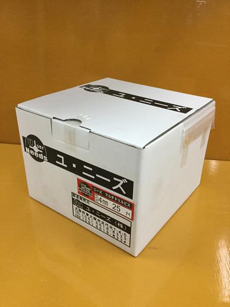 ユニーズ マルチドリルビスユニクロ4×25ナベ徳用紙大箱(1622本入)SQ2PH2(四角ビット)-110mm×4本・65mm×6本付 NMD425N-O [A050307]