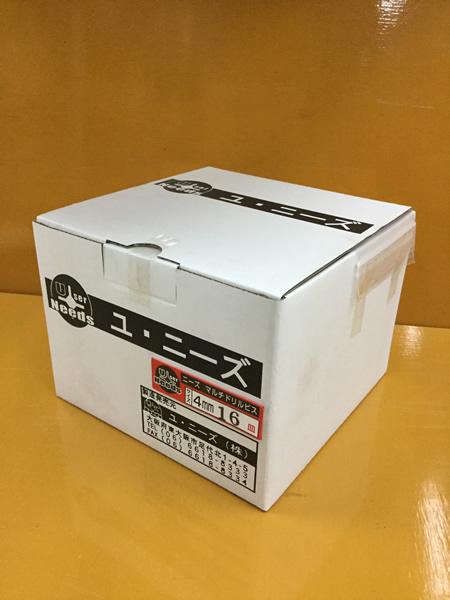 ユニーズ マルチドリルビスユニクロ4×16皿徳用紙大箱(2420本入)SQ2PH2(四角ビット)-110mm×4本・65mm×6本付 NMD416S-O [A050308]
