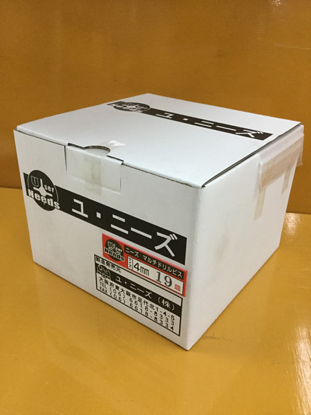 ユニーズ マルチドリルビスユニクロ4×19皿徳用紙大箱(2190本入)SQ2PH2(四角ビット)-110mm×4本・65mm×6本付 NMD419S-O [A050308]