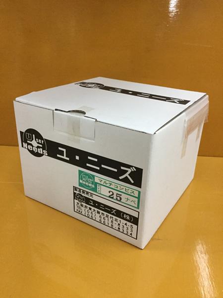 ユニーズ マルチコンクリートビス4×25なべ徳用紙大箱(1800本入)※ノンプラグSQ2PH2(四角ビット)-110mm×4本・65mm×6本付 NMC-25N-O [A050307]