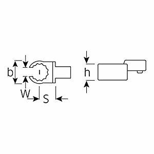 スタビレー STAHLWILLEI トルクレンチ差替ヘッド (58231012) 733/10-12 [A010322]