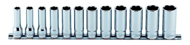 【★4時間限定!獲得最大P10倍!★限定期間注意!】コーケン Ko-Ken 3/8(9.5mm)サーフェイスディープソケットレールセット 12ヶ組 RS3310M/12 [A010621]