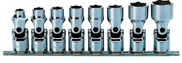 コーケン Ko-Ken 3/8(9.5mm)12角ユニバーサルソケットレールセット 8ヶ組 RS3440A/8 [A010624]