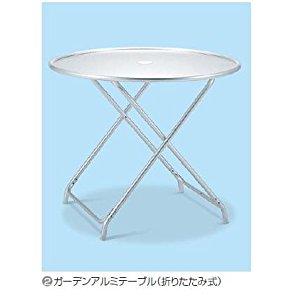 【◆◇マラソン!ポイント2倍!◇◆】テラモト ガーデンアルミテーブル(折畳式) MZ-610-120-0 [A160701]