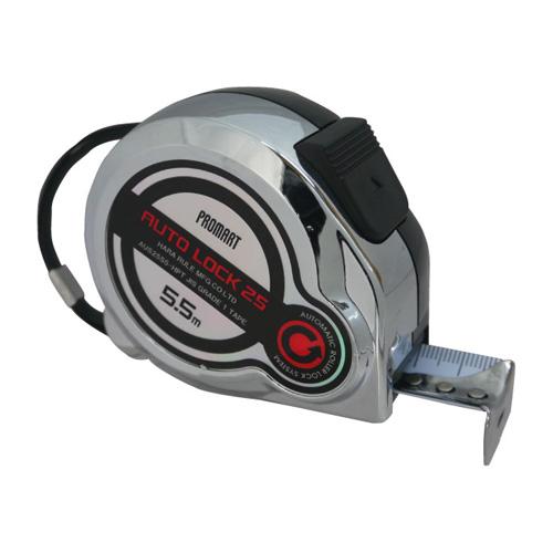 原度器 メジャー オートロック ハーフメッキタイプ AUS2555S-HPT [A030315]