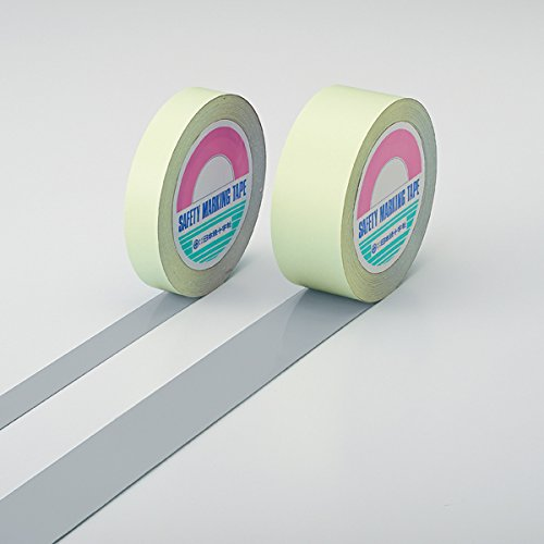 日本緑十字社 ガードテープ(ラインテープ) グレー 25mm幅×100m 屋内用 No.148029 [A210118]