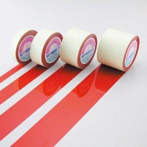 日本緑十字社 ガードテープ(ラインテープ) 赤 100mm幅×100m 屋内用 #148134 [A210118]