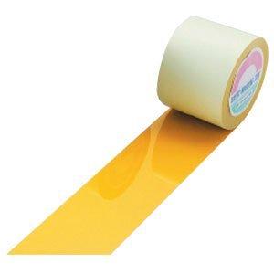 日本緑十字社 ガードテープ 50mm幅x100m 黄色 オレフィン樹脂 No.148053 [A062100]