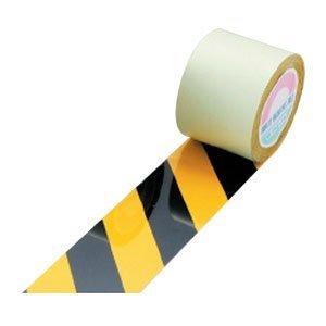 日本緑十字社 ガードテープ 50mm幅x100m 黄・黒色 オレフィン樹脂 No.148062 [A062100]