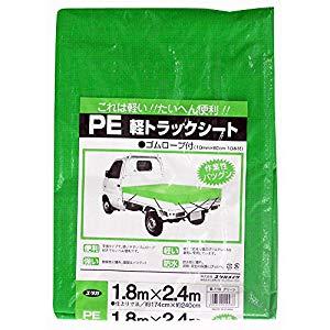 画像は代表画像です ご購入時は商品説明等ご確認ください ユタカメイク PE軽トラックシート グリーン オーバーのアイテム取扱☆ B-110 1.8m×2.4m 正規品 A201201