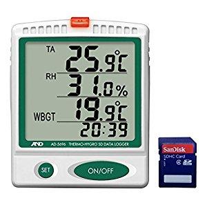 エー・アンド・デイ AND A&D デジタル温湿度SDデーターロガー AD5696 [A230101]