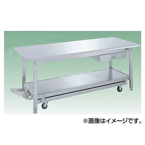 サカエ SAKAE ステンレス作業台(ペダル昇降移動式・キャビネット付) SUKA-127SSN [A130110]