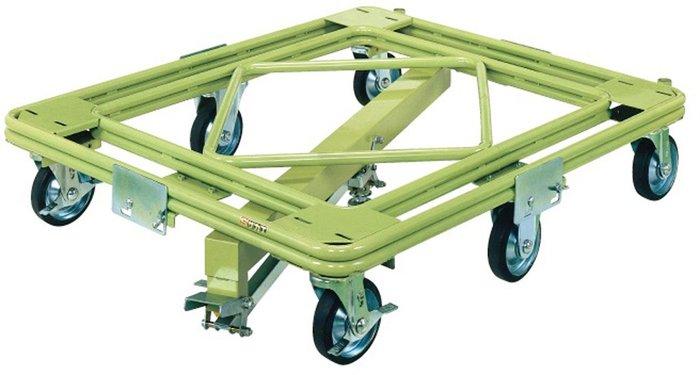 サカエ SAKAE 自在移動回転台車(超重量型・センターベース付) RH-1KG [A130528]