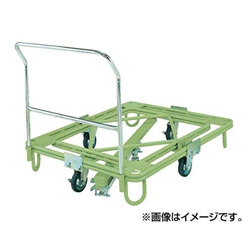 サカエ SAKAE 自在移動回転台車(重量型・取手・センターベース付) RC-4FG [A130528]