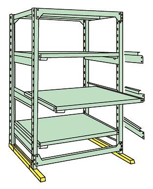 重量棚ならダイシン工具箱におまかせ サカエ 初売り SAKAE 代引不可 直送 中量スライドラック MSR2112L04T 驚きの価格が実現 A170909 別途送料