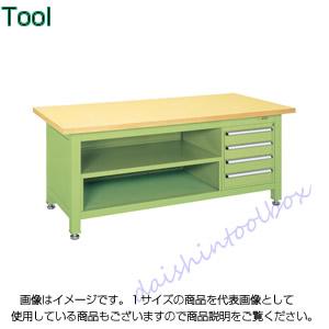 作業台ならダイシン工具箱におまかせ 格安店 サカエ 好評 SAKAE 代引不可 直送 超重量作業台Wタイプ WS-8T4 A130110 個人宅不可
