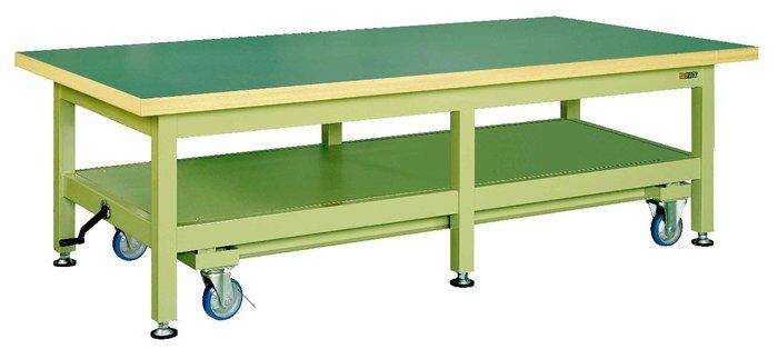 サカエ SAKAE 超重量作業台KWCタイプ(ハンドル昇降移動式) KWCF-2412 [A130110]