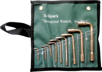 【★店内最大P5倍!★】ハマコS.S X-SPARK 防爆六角棒レンチセット CBHX-9S [A020206]